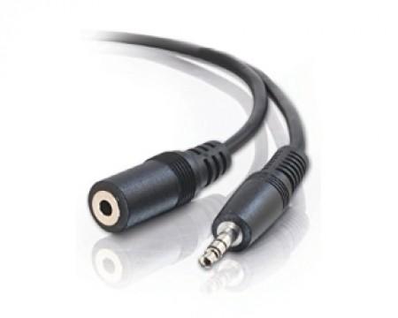 E-GREEN Kabl audio 3.5mm - 3.5mm MF (produžni) 3m crni