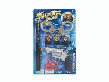 Policijski set pištolj sa lisicama i palicom ( HH007819 )