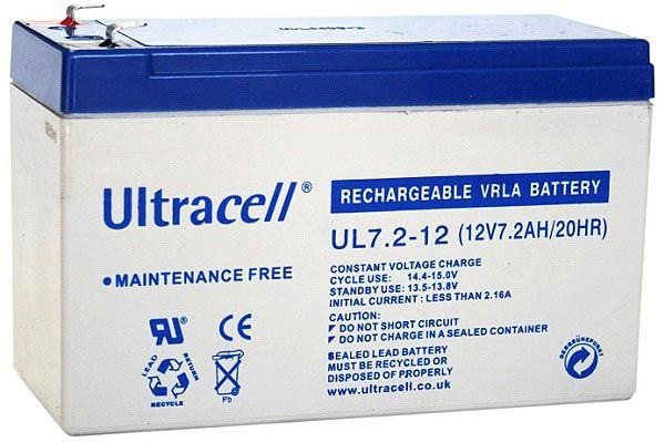 UltraCell Battery 12V / 7.2Ah UPS ( UL7.2-12 )