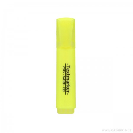 Tekst marker, kosi vrh, žuti ( GT035593 )
