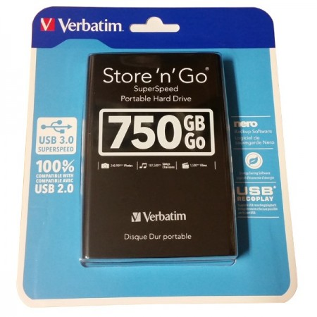 Verbatim 750GB 2.5 USB 3.0 Eksterni Hard disk ( EHV53176 )