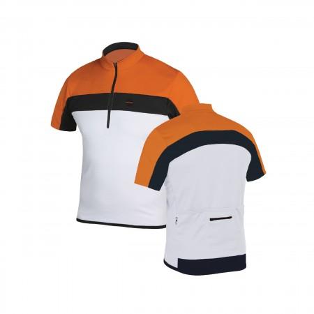 Capriolo odeća biciklistička majica white/orange vel xl ( 282810-WX )