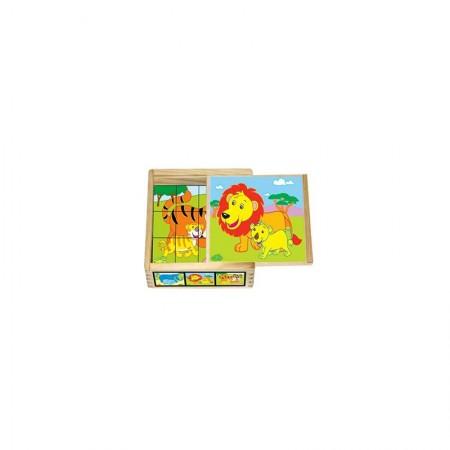 Hk Mini igračka drvene kocke u kutiji ( 6261911 )