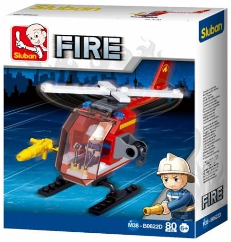 Sluban kocke mali vatrogasni helikopter 77kom ( 6880536 )