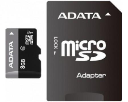 AData UHS-I MicroSDHC 8GB class 10 + adapter AUSDH8GUICL10-RA1