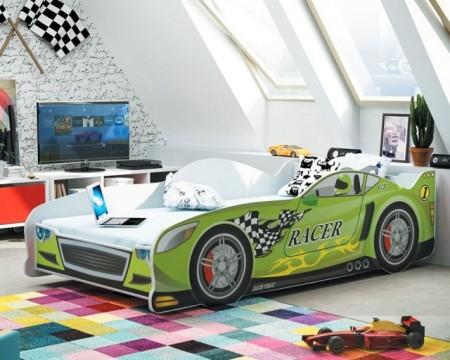Racer Krevet za decu 160x80 Zeleni + Dušek ( racerzeleni )