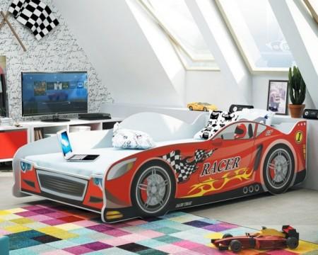 Racer Krevet za decu 160x80 Crveni + Dušek ( racercrveni )