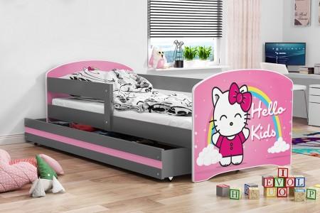 Elegant Krevet za decu 160*80 cm Graphite + Dušek  ( lookiegraphite03 )