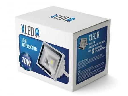 Xled reflektor 10W Toplo Beli 2700K 800Lm IP65 AC85-265V