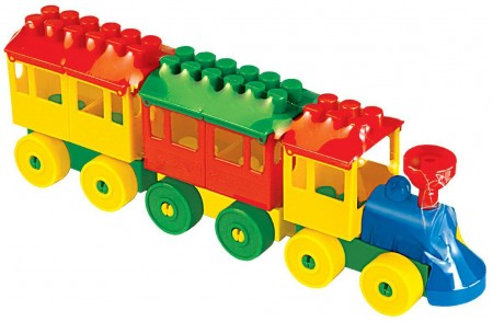 Vozić kocke - 2 vagona  32x6x10cm  ( 036704 )
