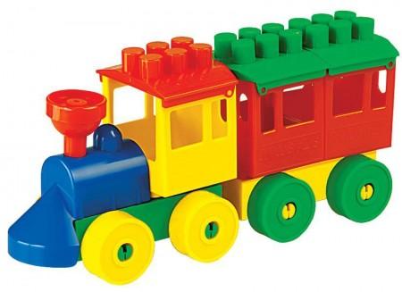 Vozić i kocke - 1 vagon  22x6x10cm  ( 036698 )