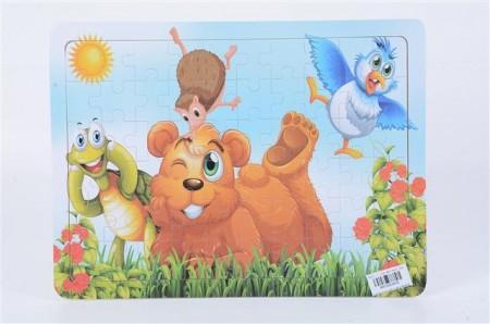 Puzzla  30x23x0.5cm Funny bear ( 983808 )