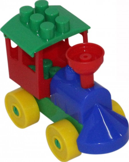 Mini lokomotiva kocke 9 el.  12x6x10  ( 055231 )