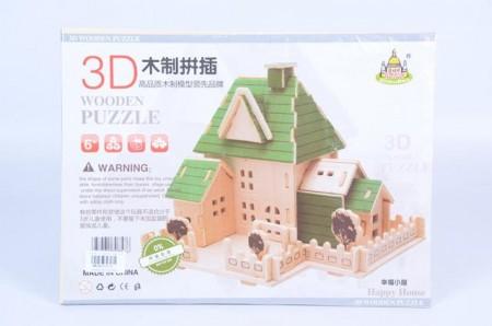Puzzle 3D  31x23x0.5 vila ( 693074 )