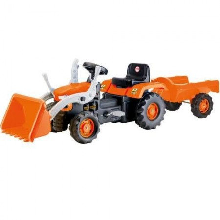 Dolu Traktor na pedale sa prikolicom i kašikom ( 080524 )