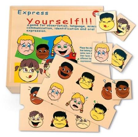Pertini 56289 Drvena slagalica - Učimo izraze lica