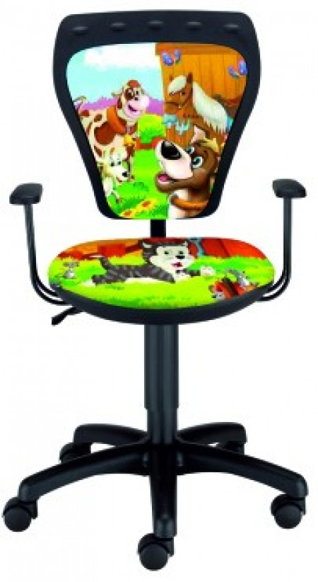 Dečija daktilo stolica Ministyle TS22 GTP28-BL animals SH