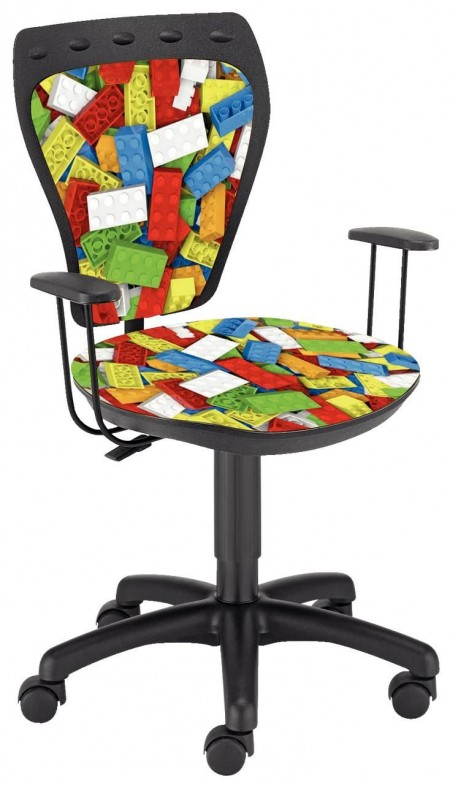 Dečija daktilo stolica Ministyle TS22 GTP28-BL lego SH