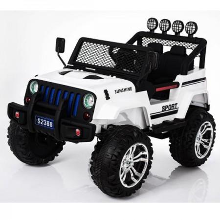 Auto na Akumulator S2388 Jeep Czarny 12V 7AH*1+2MOTORA ( 11/3499-1 )