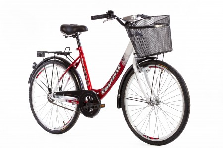 CITY Bicikla V-Bike Lux 26 crvena/bela ( 460098 )