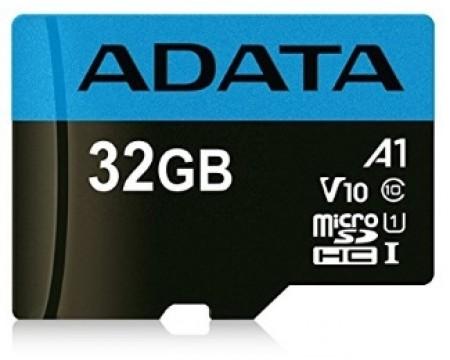 A-Data UHS-I MicroSDHC 32GB class 10 + adapter ( AUSDH32GUICL10A1-RA1 )