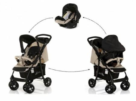 Hauck Shopper ShopnDrive Caviar Beige duo set (kolica+auto sedište) ( 5040227 )