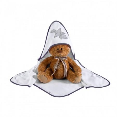 Klups Peškir za bebe zvezdice 100x100cm ( K065T )
