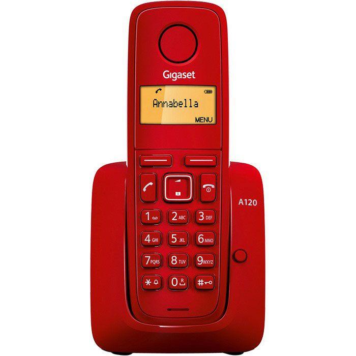 Siemens Gigaset A120 IM-East bežični telefon crveni