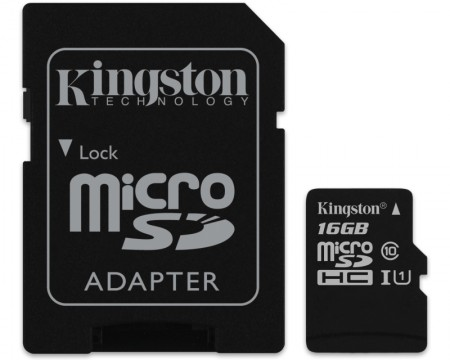 Kingston UHS-I MicroSDHC 16GB 80R class 10 SDCS16GB + adapter