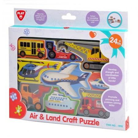 PlayGo Puzzle plastične za slaganje - vozila ( 0127114 )