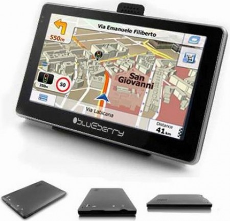 Blueberry GPS Nav 2GO547  - 5 LCD 480x272 pix, MTK 3353 800MHz, Full EU, SRB+RUS maps, 8GB Internal Memory, 128 MB RAM, FM Transmitter, Wi