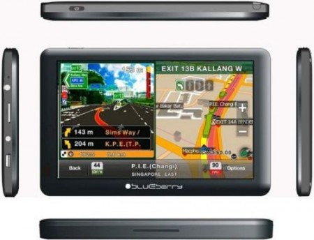 Blueberry GPS Nav 2GO579 - 5 Hi Res LCD 800x480, MTK 3353 800MHz, 128MB DDR3 , 8GB Internal memory, Full EU, SRB, RUS maps, BT, FMT, AV-In
