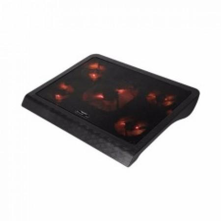 Hladnjak za laptop 15-17 Marvo FN33 5 ventilatora sa pozadinskim osvetljenjem crno/crveni ( 009-0076         )