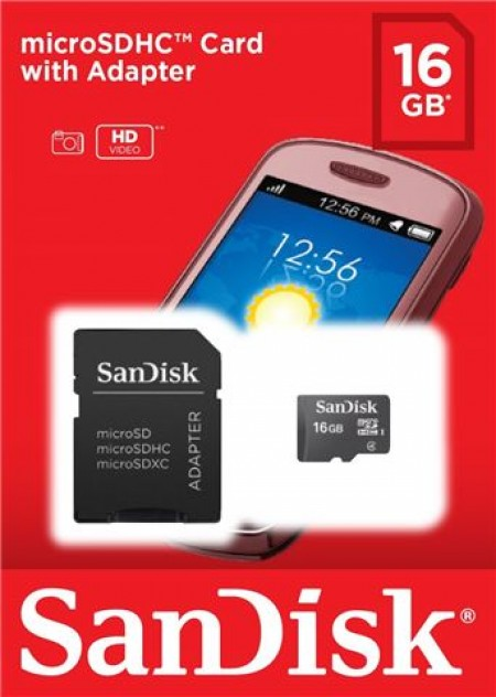 SanDisk MicroSD 16GB Ultra memorijska kartica + SD adapter SDSDQM-016G-B35A ( 0704713 )
