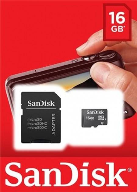 SanDisk MicroSD 16GB + SD adapter SDSDQB-016G-B35 memorijska kartica ( 0704656 )
