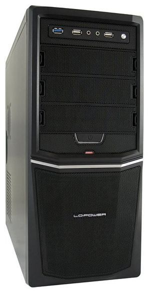 LC Power Midi Tower Pro-Line 924B 420W-12 USB3.0 Black