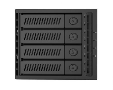 Chieftec CMR-3141SAS 4 x 3.5 ili 4 x 2.5 SATA crna fioka za hard disk