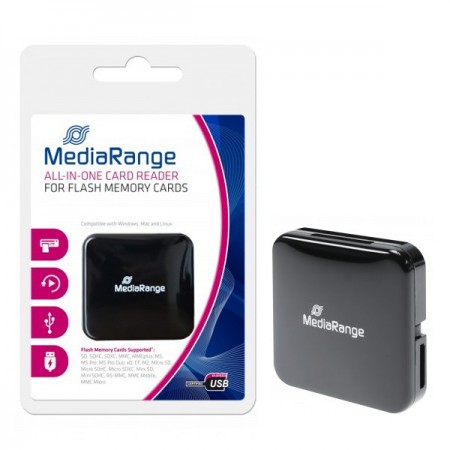 MediaRange AllInOne Card Reader stick black USB 2.0 ( MRCS501 )