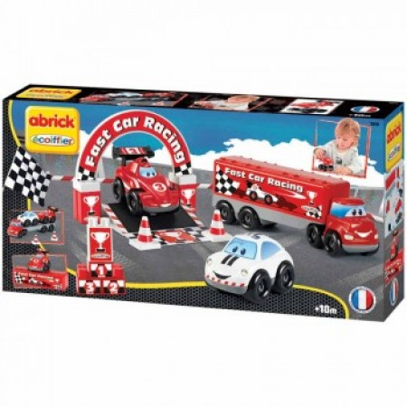 Ecoiffier set vozila fast car racing ( SM003253 )