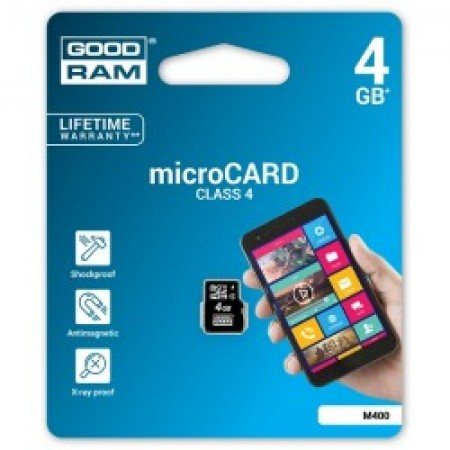 GoodRam 4GB MicroSDHC CL4 memorijska kartica ( MCGR4G/Z )