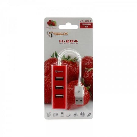S BOX H 204 USB 4 Portni HUB  R
