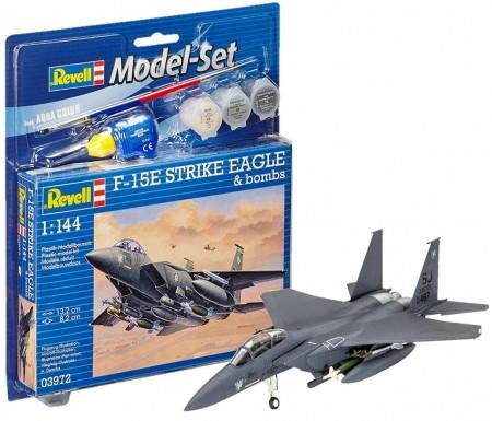 Revell maketa f-15e strike eagle & bombs ( RV03972/025 )