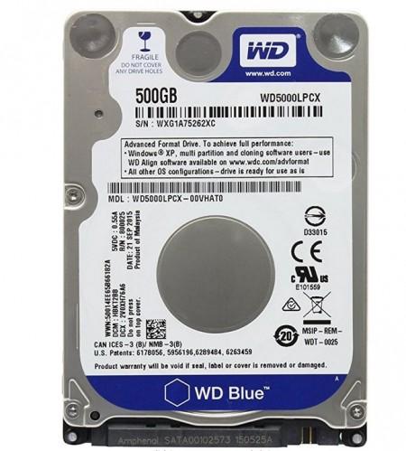 WD WD500LPCX 500GB 2.5 5400rpm SATA3 Scorpio Blue bulk ( WD500LPCX-bulk )