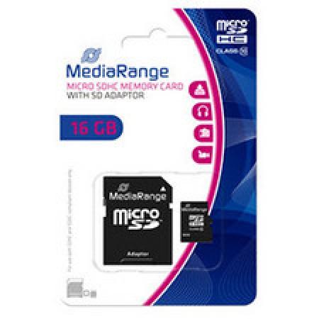 Mediarange 16GB microSDHC + SD adapter Memorijska kartica ( 041-0179         )