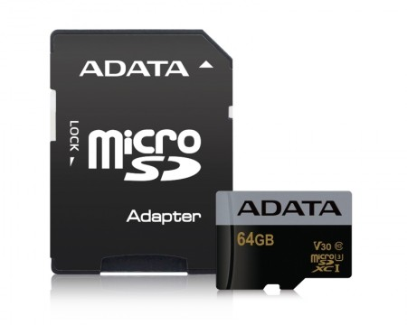 A-DATA UHS-I MicroSDHC 32GB class 10 + adapter AUSDH32GUI3V30G-RA1