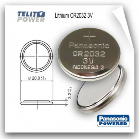 Litijum 3V CR2032 Panasonic ( 139 )