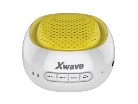 Xwave BT zvucnik FM Radio Micro SD USB beli sa zutom mrezicom ( B COOL white/yellow )