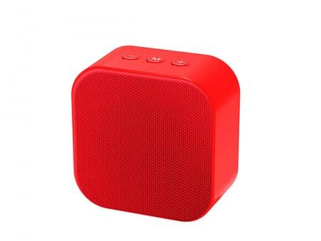 Xwave BT zvucnik 4.2 FM Radio MicroSD USB2.0 AUX line-in  Crveni ( B SQUARE red )