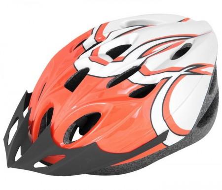 Kaciga biciklistička belo-narandžasta ( 080028 )
