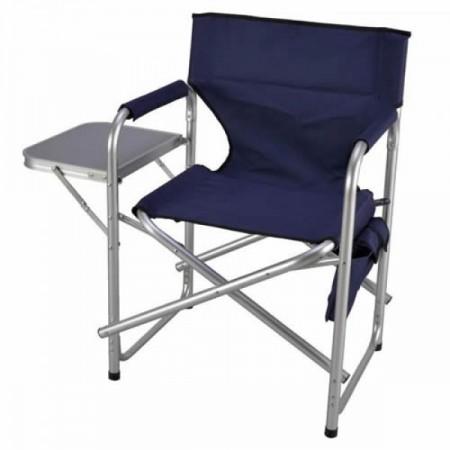 Bastenska stolica aluminijumska sa stolom i dzepovima - tamno plava ( 030177 )